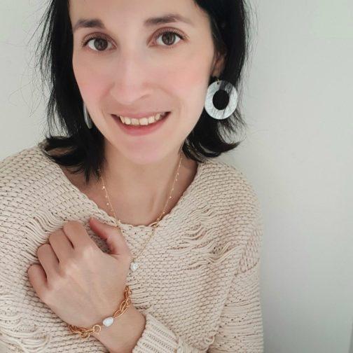 Boucles d'oreilles acétate nacre