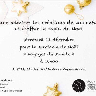 Marché de Noël école internationale du Bassin d'Arcachon
