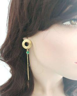 Boucles d'oreilles pendante onyx
