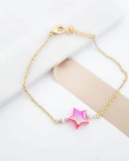Bracelet étoile colorée