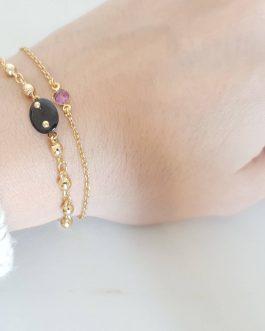 Bracelet chaine boule spinelle