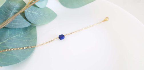 Bracelet lapis lazuli facetté