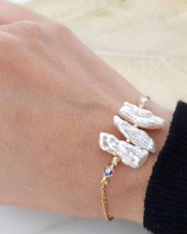 Bracelet nacre cristal