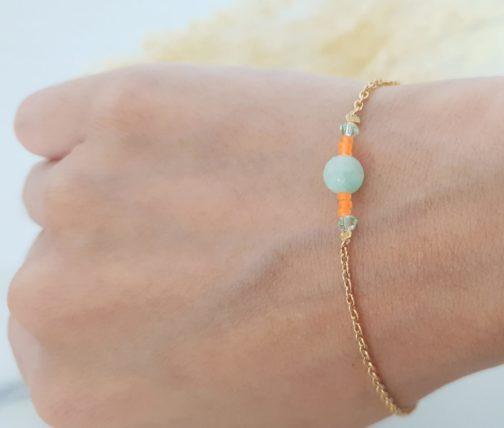 Bracelet vert orange fluo