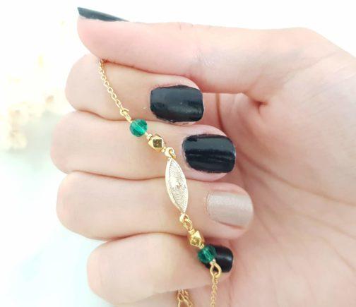 Bracelet navette perles