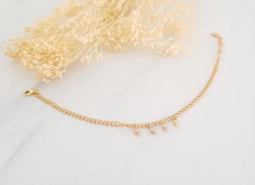 Bracelet perles Swarovski roseGold