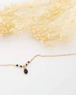 Bracelet onyx perles