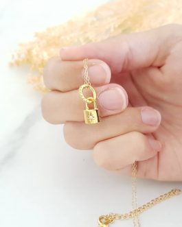 Collier cadenas zircon