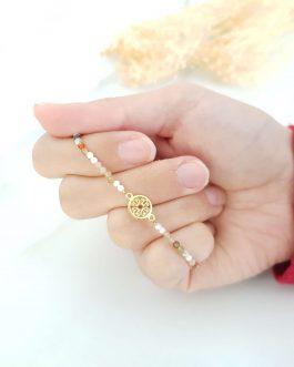 Bracelet pierre d'agate indienne