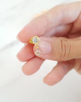 Boucles d'oreilles zircon cristal
