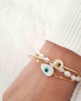 Bracelet oeil boho doré