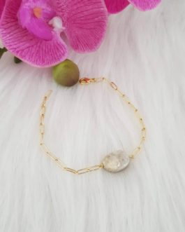 Bracelet chaine quartz druse