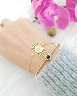 Bracelet soleil pierre de lune