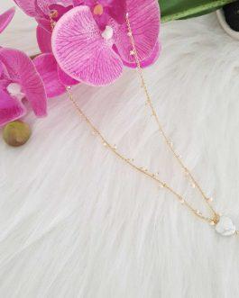 Collier petite perles coeur