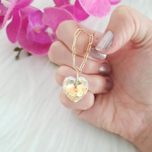 Bracelet cœur cristal