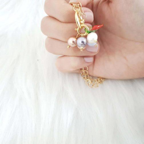 Collier interchangeable perle