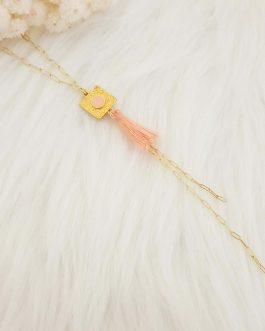 Collier pendentif végétal pompon
