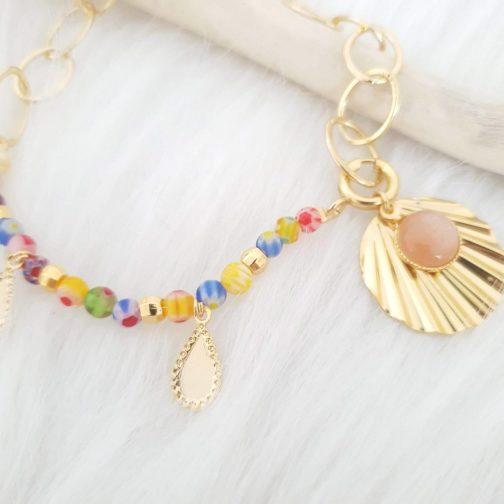 Bracelet verre coloré
