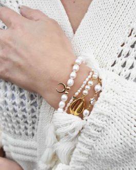 Bracelet fin nacre