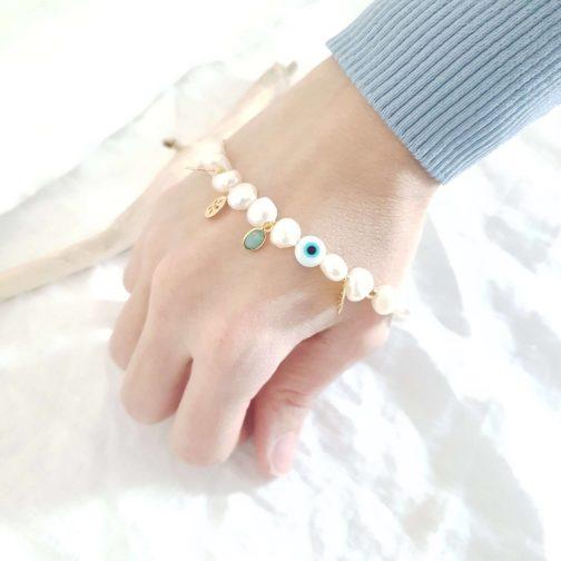 Bracelet nacre amazonite