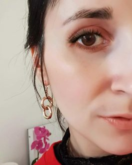 Boucles d'oreilles rond doré