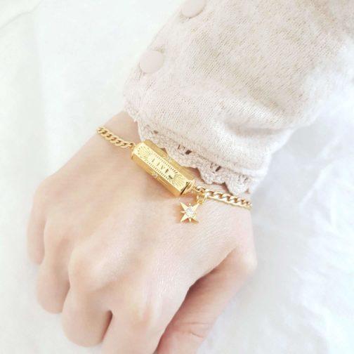 Bracelet cylindre LIVE étoile