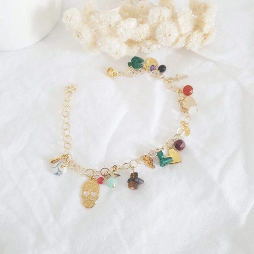 Bracelet breloques pierres naturelles