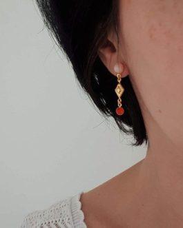 Boucles d'oreilles losanges colorées