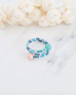 Bague multi rang perles