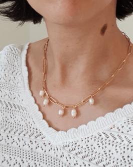 Collier perles d'eau douce