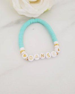 Bracelet heishis lettre danse