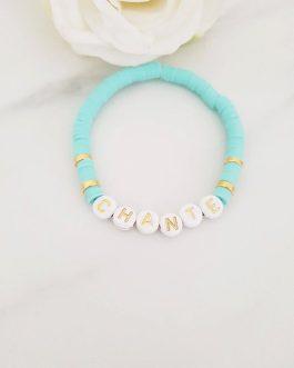 Bracelet heishi lettre chante