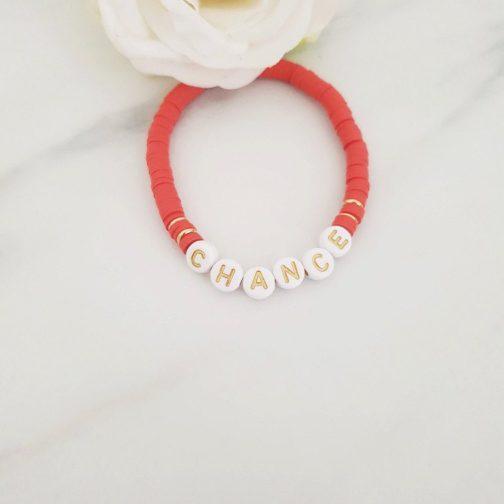 Bracelet lettres chance