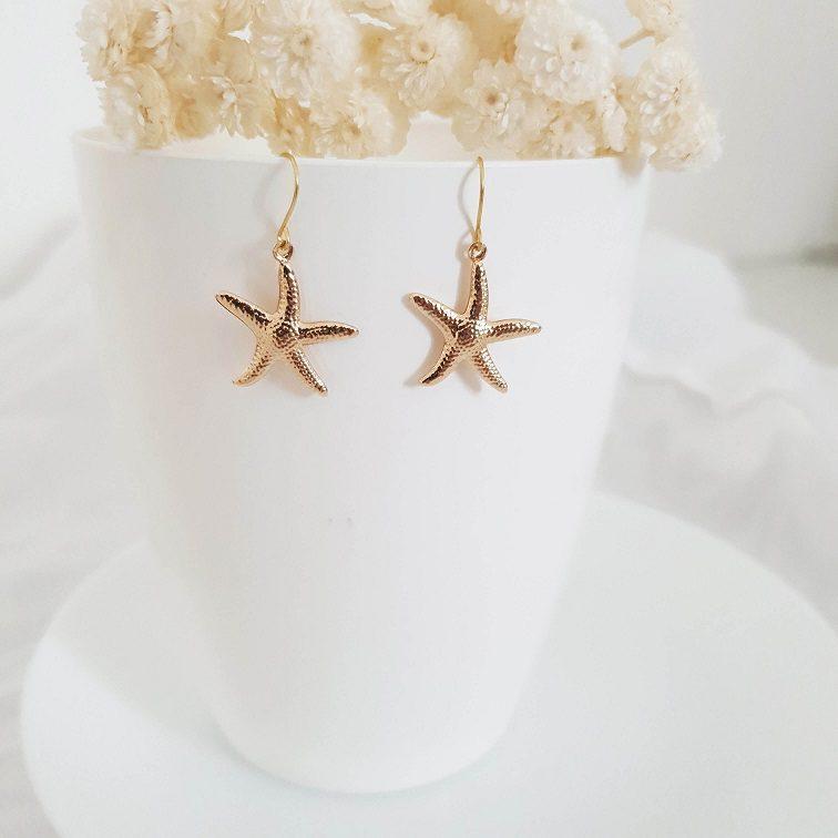 Boucles d'oreilles étoile de mer