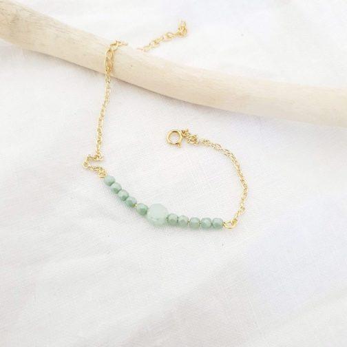 Bracelet fin vert d'eau
