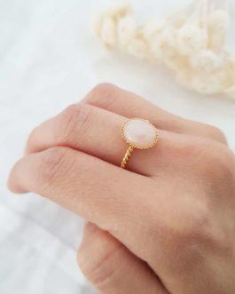 Bague torsadée quartz