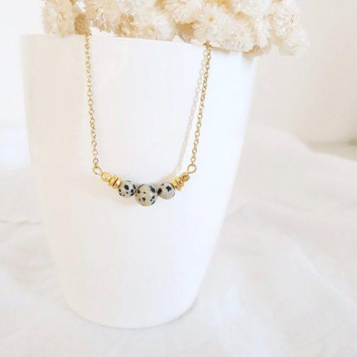 Collier pierre naturelle jaspe