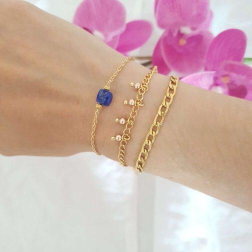 Bracelet gourmette acier inox