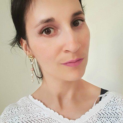 Boucles d'oreilles fleur pierres
