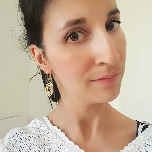 Boucles d'oreilles ronde strass
