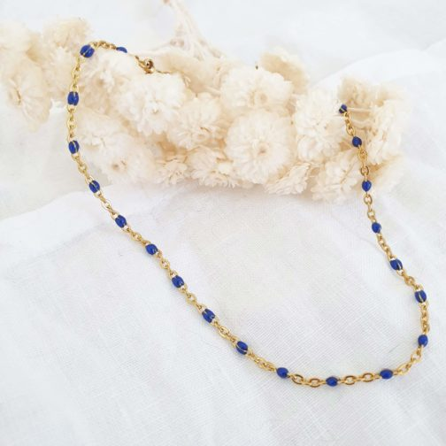 Bracelet cheville bleu