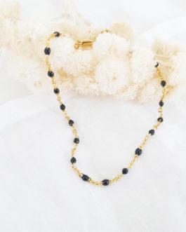 Bracelet cheville noir