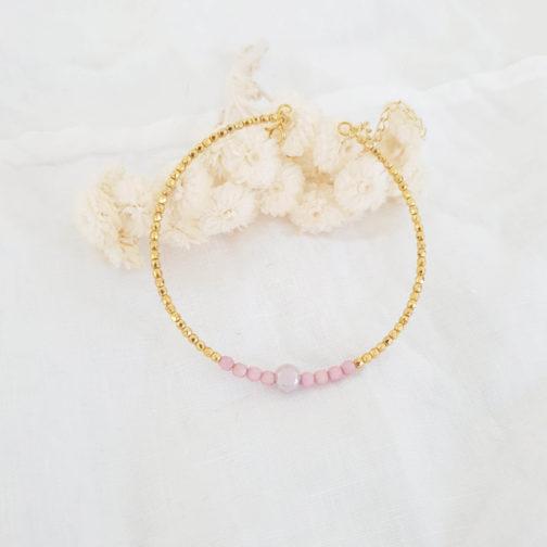 Bracelet rigide rose doré