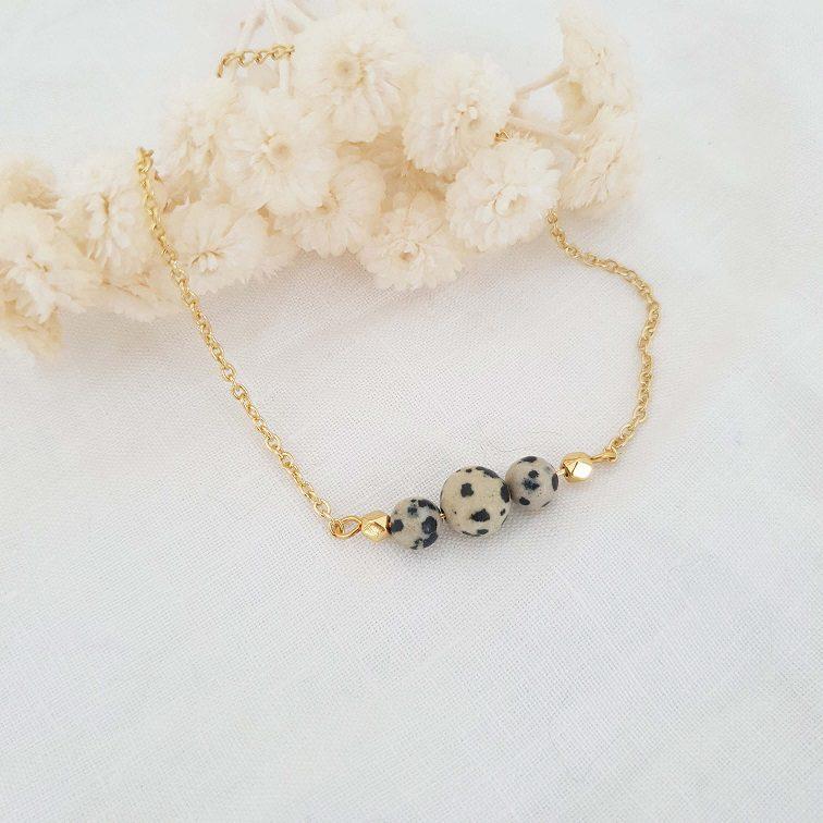 Bracelet pierre naturelle jaspe