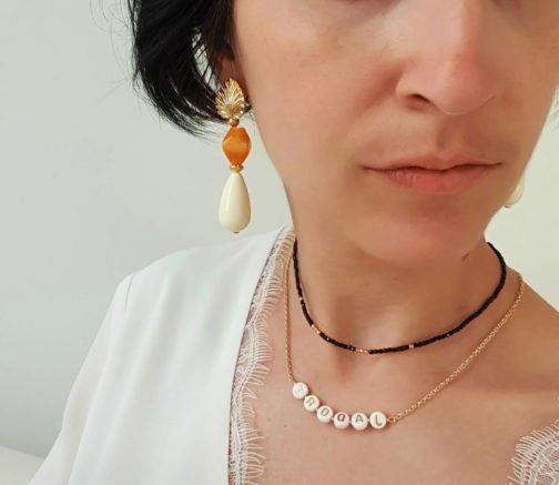 Boucles d'oreilles pendantes gouttes