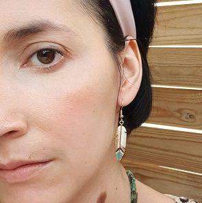 Boucles d'oreilles plume colorées