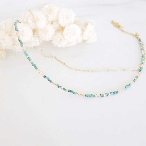 Bracelet Chevillère multirangs perles