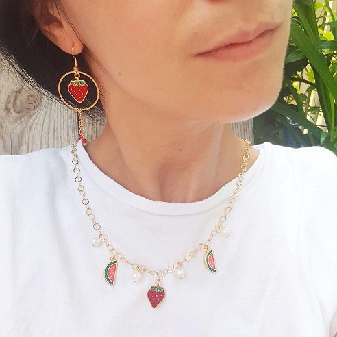 Collier fruits nacre