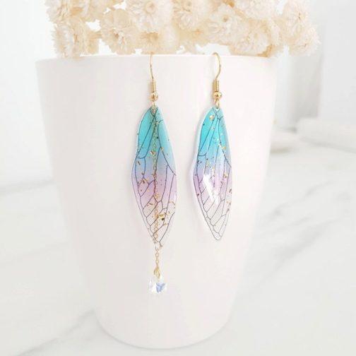 Boucles d'oreilles ailes fée