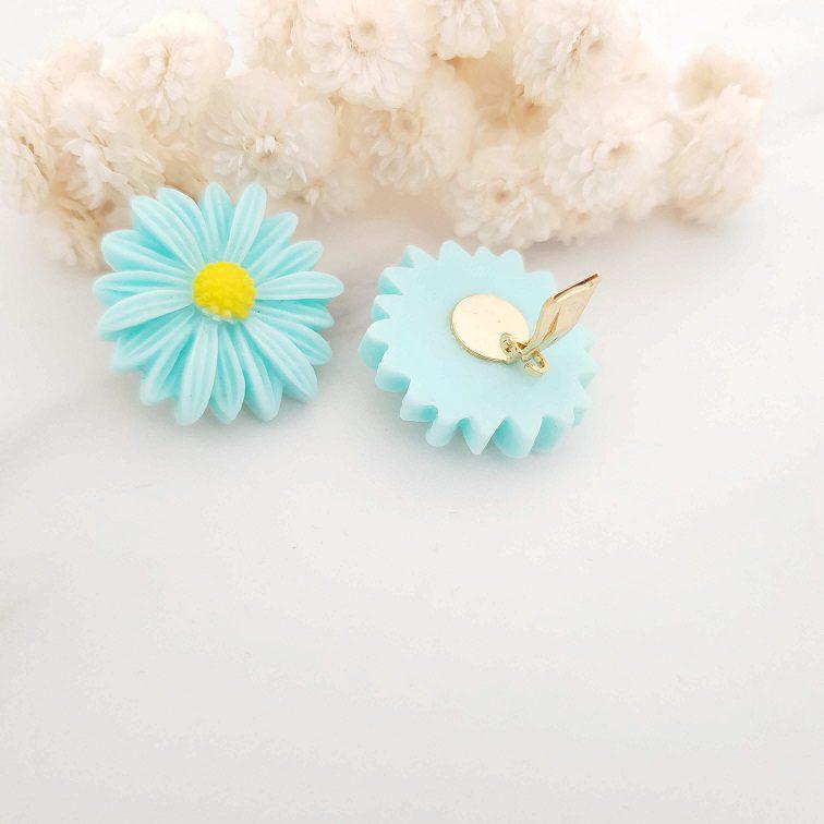Boucles d'oreilles clip fleur